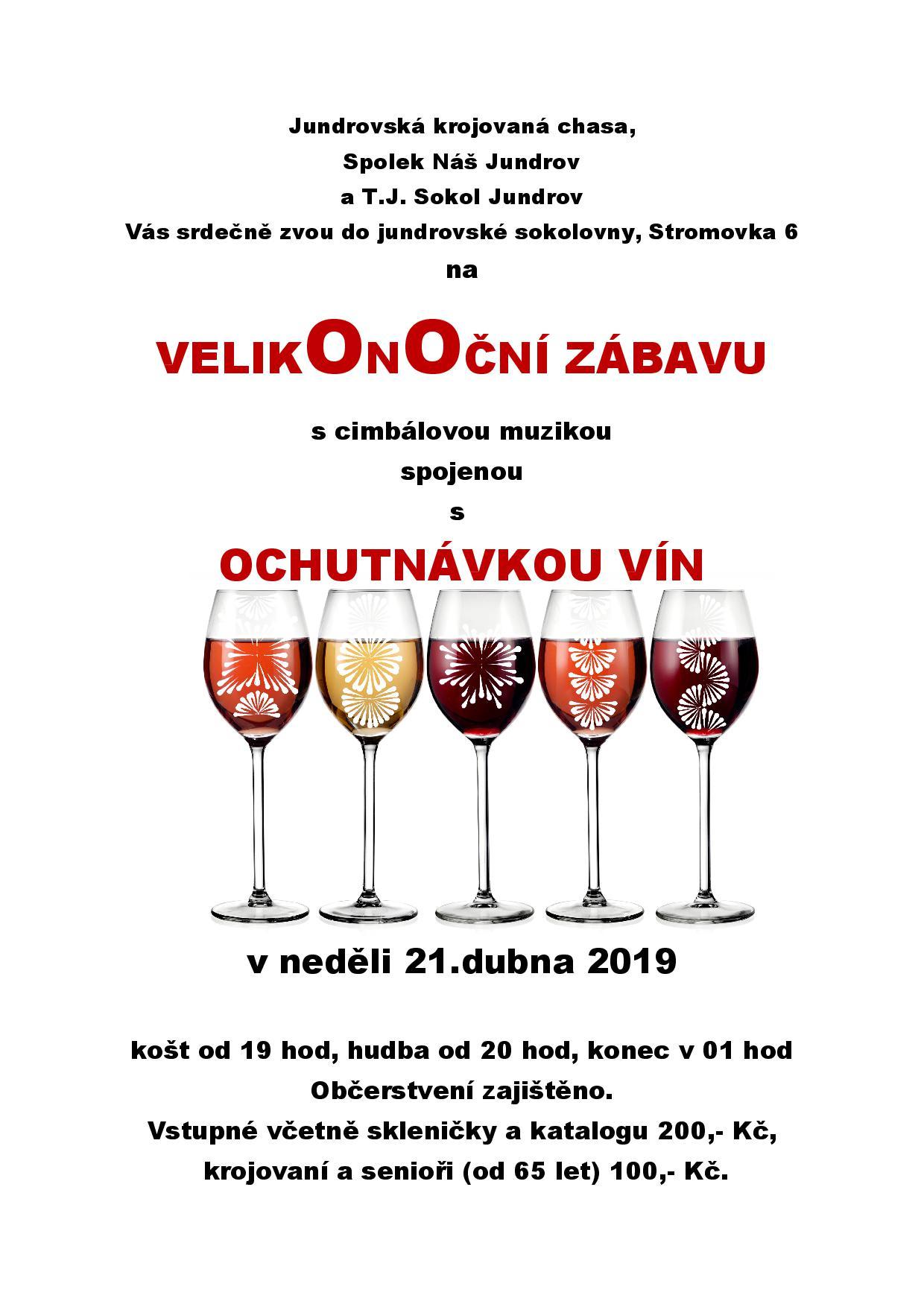 Velikonoční košt vín Jundrov